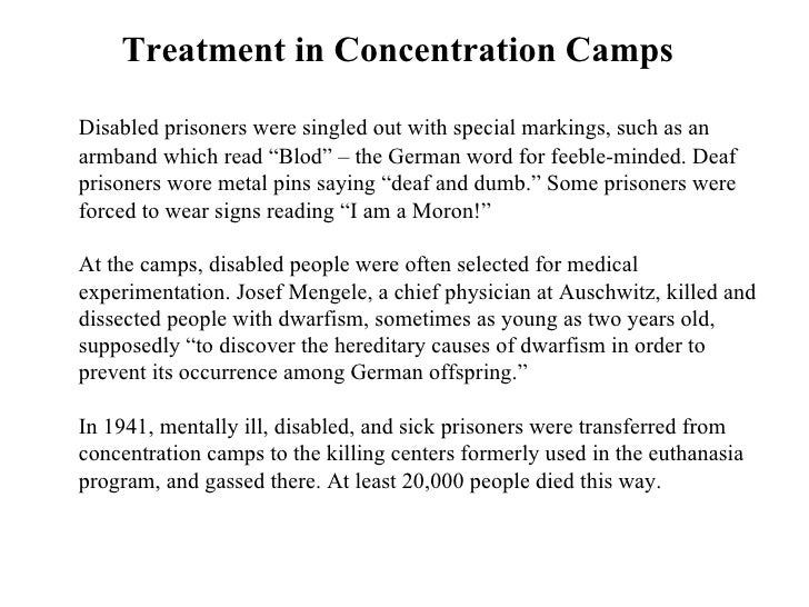 concentration camp research paper