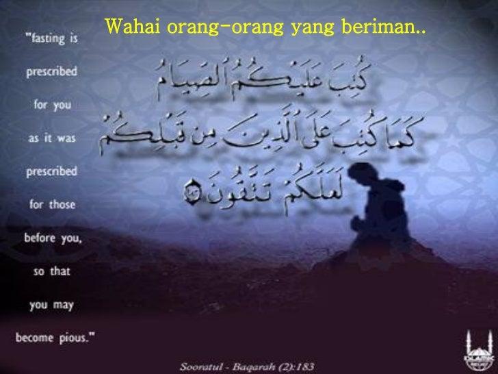 Wahai orang-orang yang beriman..