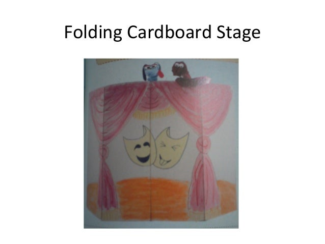 Folding Cardboard Stage