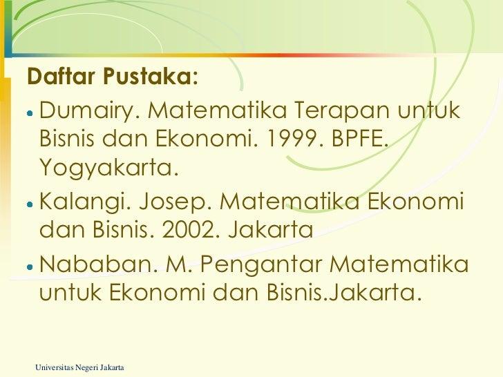 Buku Matematika Ekonomi Pdf