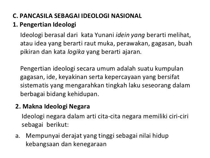 Pancasila sebagai filsafat dan ideologi negara