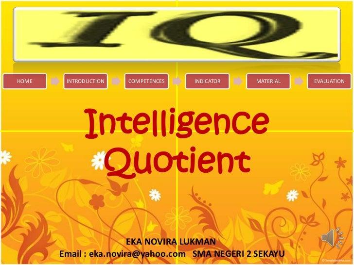 Hubungan IQ dan Pilihan Karir