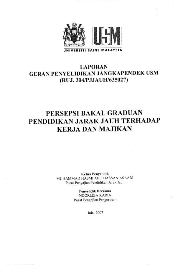 UNIVERSITI SAINS MALAYSIA               LAPORANGERAN PENYELIDIKAN JANGKAPENDEK USM        (RUJ. 304/PJJAUH/ 635027)    PER...