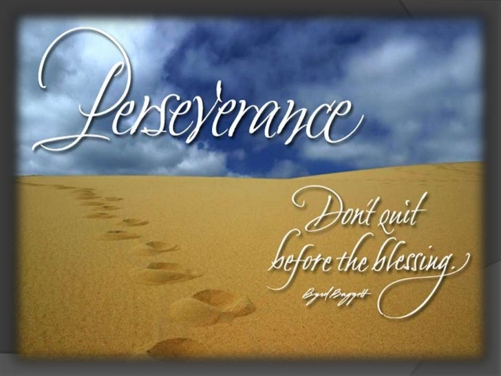 perseverance how to develop it