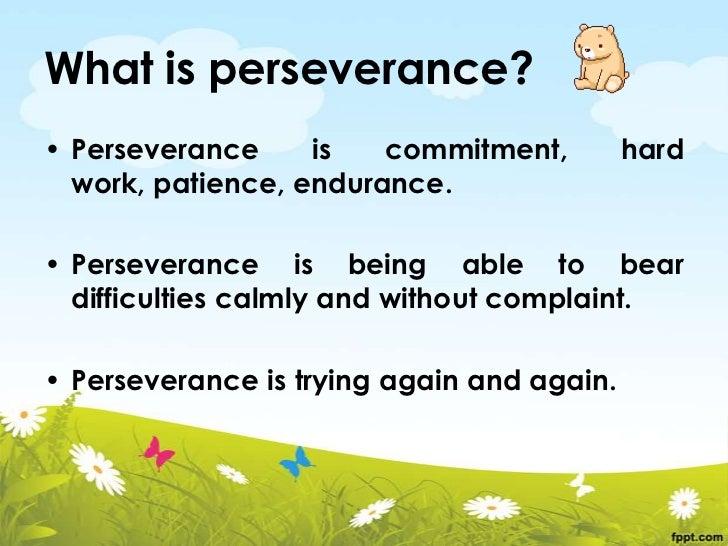 Perseverance Slide 2
