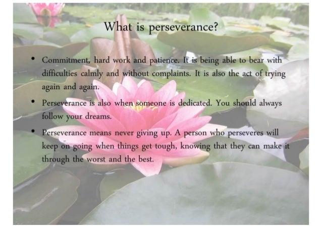 Perseverance Slide 3