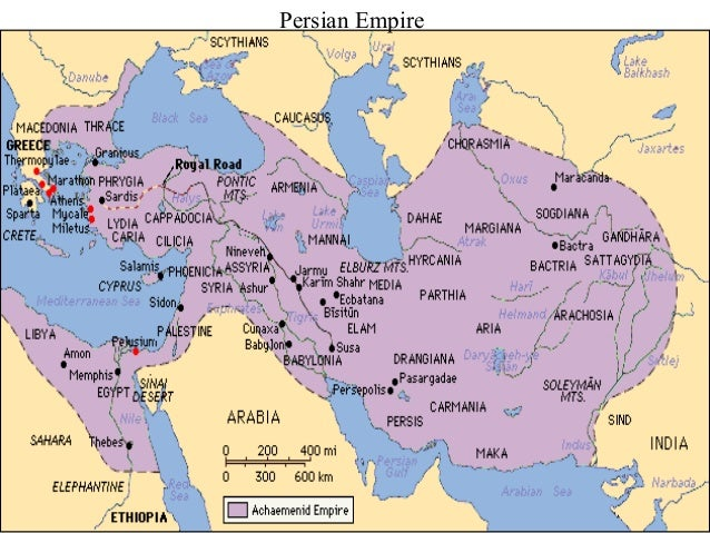 Map of the Persian Empire