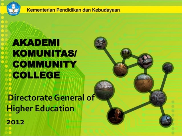 AKADEMI KOMUNITAS/ COMMUNITY COLLEGEDirectorate General ofHigher Education2012