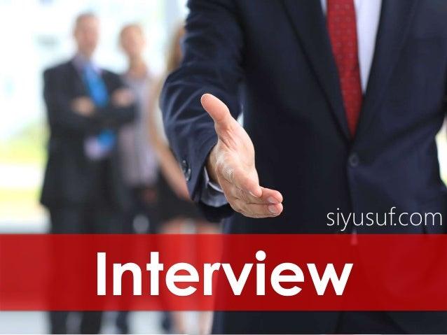 Interview siyusuf.com