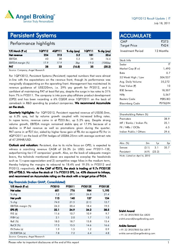 1QFY2012 Result Update | IT                                                                                               ...