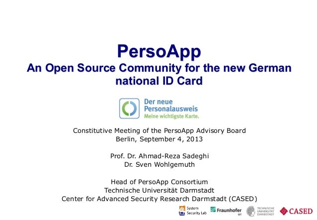 PersoApp - An Open Source Community for the new German national ID ca…