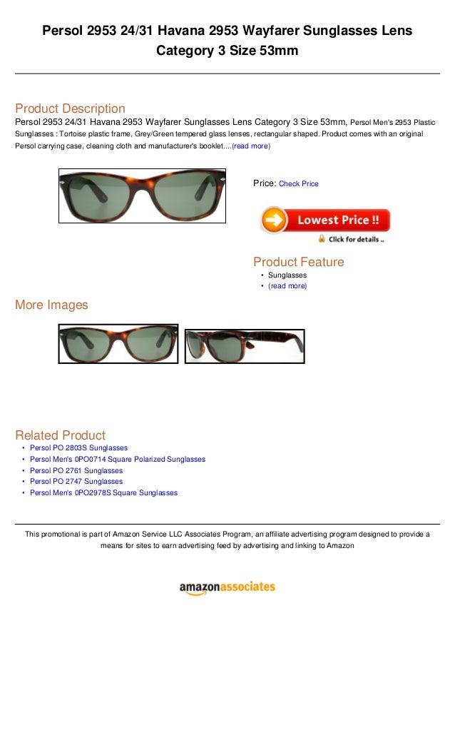 4d6ade67b Persol 2953 2431 havana 2953 wayfarer sunglasses lens category 3 size 53mm