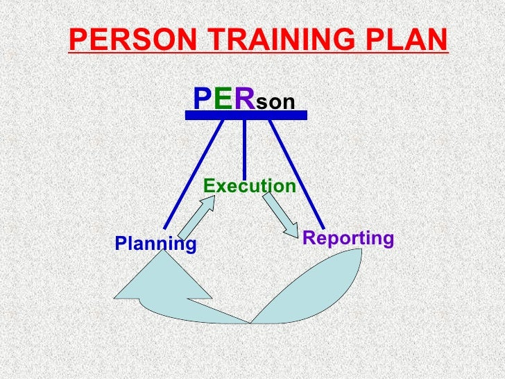 Planning Execution Reporting P E R son PERSON TRAINING PLAN