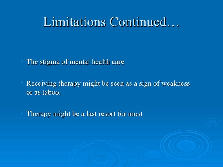 limitations in person centered therapy Person-centered therapy, which is also known as client-centered, non-directive,  or rogerian therapy, is an approach to counseling and psychotherapy that.