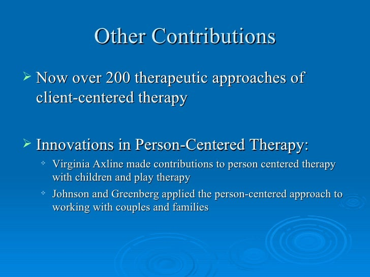 criticisms of person centred therapy