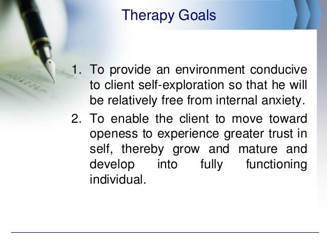 person centered therapy goals