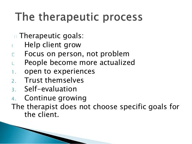 the counselling relationship in person centred