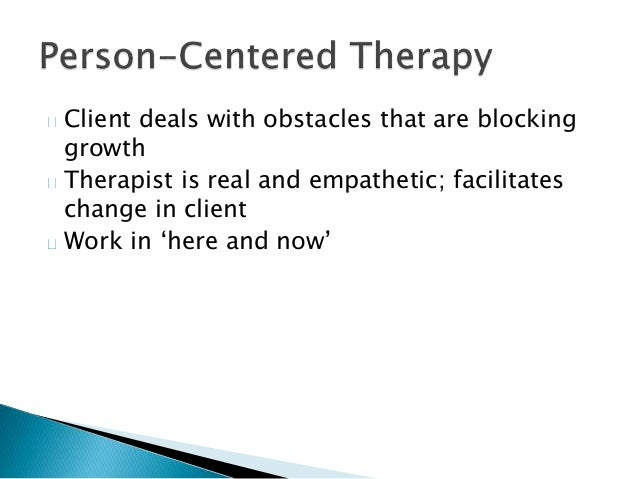 Depression - Person Centred Therapist Approach