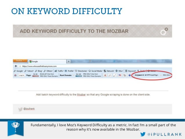 This leaves you an actionable metric to filter keywords by as well as an action plan for the numbers of links that will be...