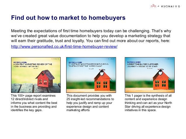 Find out how to market to homebuyers Meeting the expectations of first time homebuyers today can be challenging. That's wh...