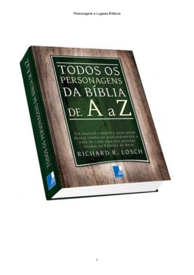 Personagens e Lugares Bíblicos 1