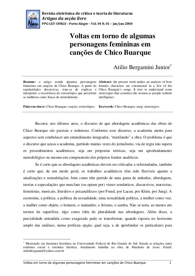 Revista eletrônica de crítica e teoria de literaturas  Artigos da seção livre PPG-LET-UFRGS – Porto Alegre – Vol. 04 N. 01...