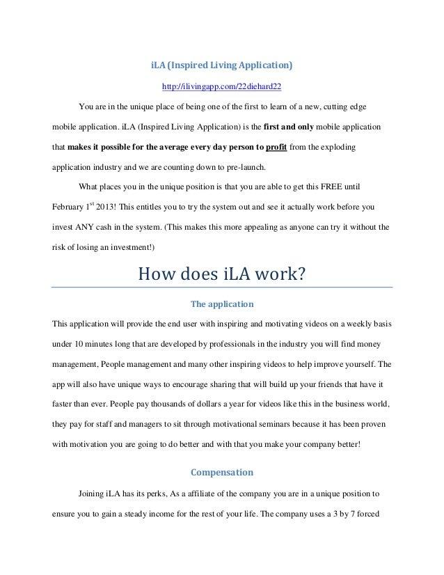 iLA (Inspired Living Application)                                 http://ilivingapp.com/22diehard22       You are in the u...
