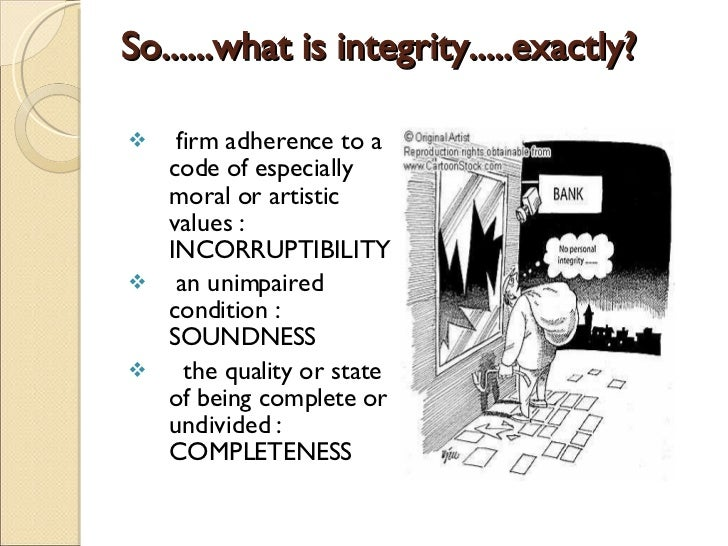 What does Integrity look like?! - YouTube
