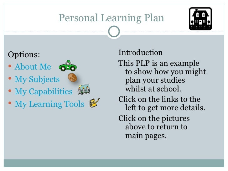Personal Learning Plan Template