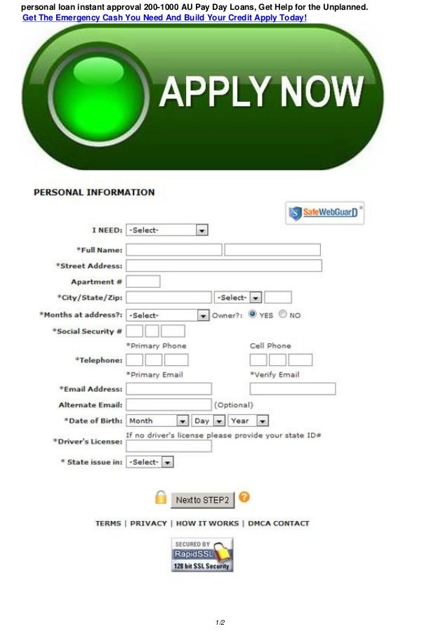 personal loan instant approval 10-10 AU Fast Payday Loans, Get Hel