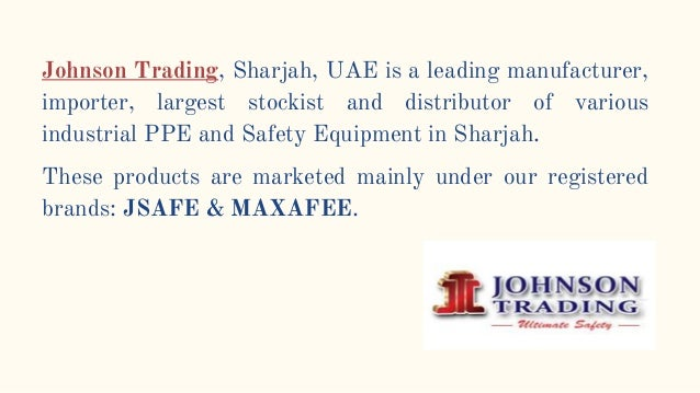 Safety equipment Suppliers | Johnson Trading