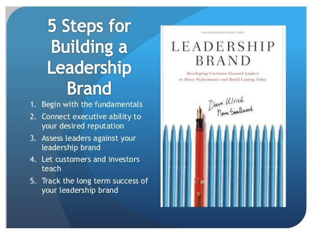 Personal And Leadership Brand