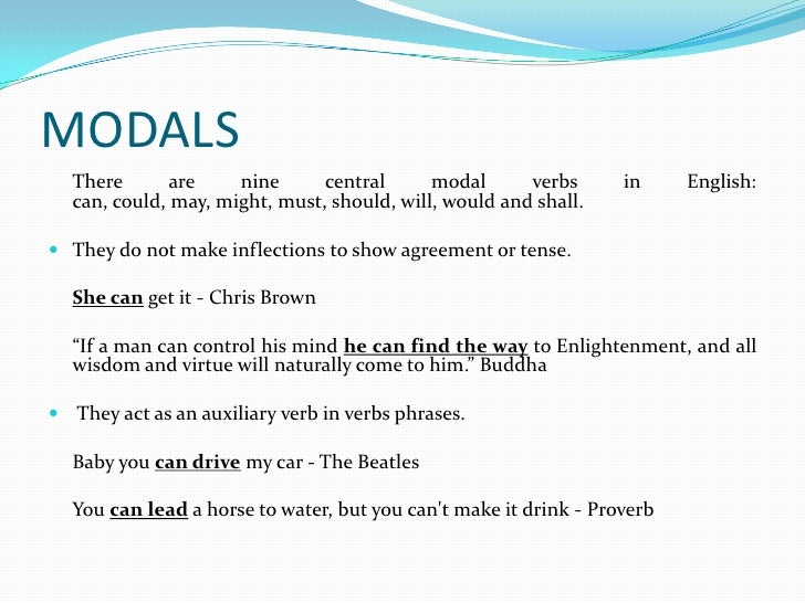 Personal And Logical Meanings Of Modals
