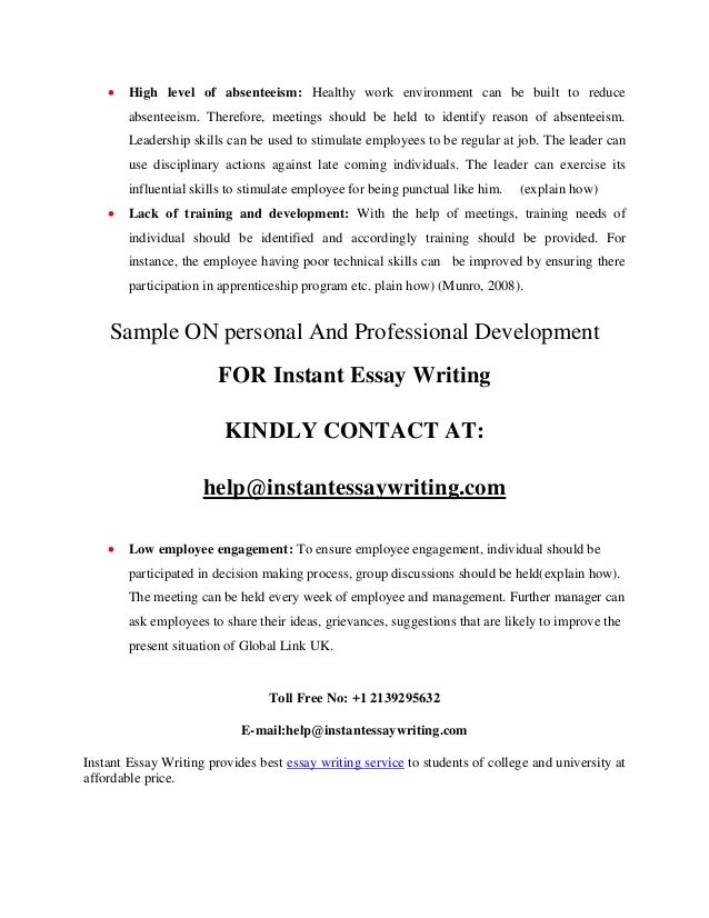 personal and professional development sample by instant essay writing 12