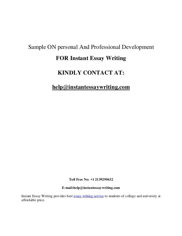 personal and professional development sample by instant essay writing 16