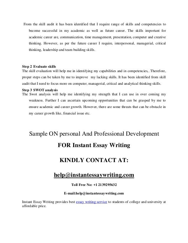 personal and professional development sample by instant essay writing  9