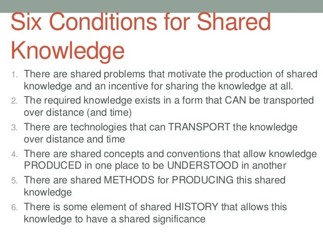 examples of shared knowledge
