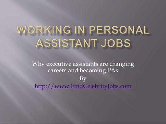 Personal assistant jobs