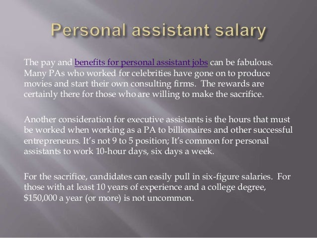 personal assistant jobs and salary, Human body