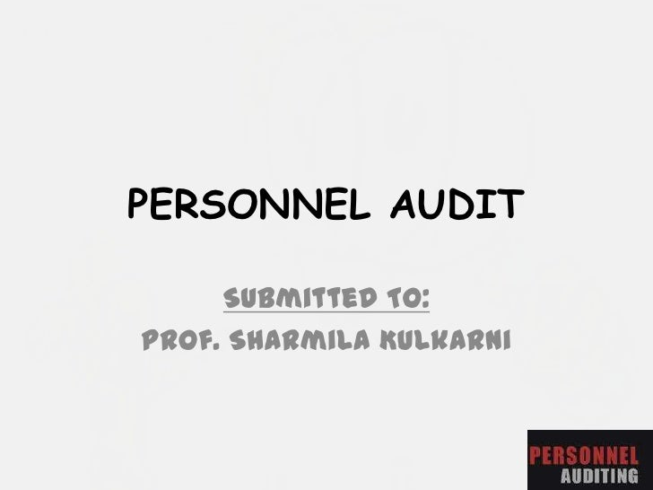 Personal audit