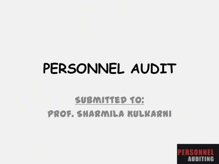 Personal Audit