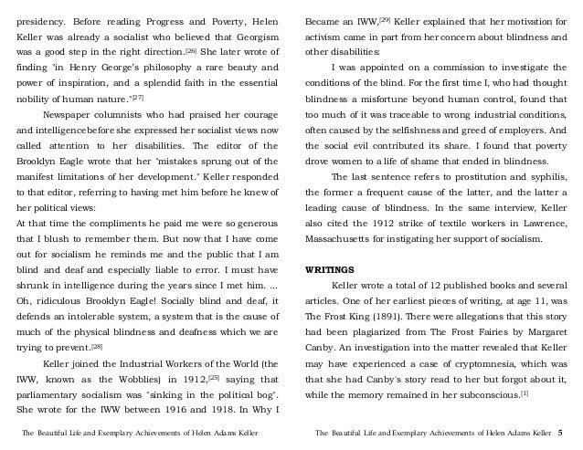 english essay helen keller Helen keller helen keller was born on june 27,  and english in the horace mann school for the  web 3 feb 2013 helen adams keller world of health gale.