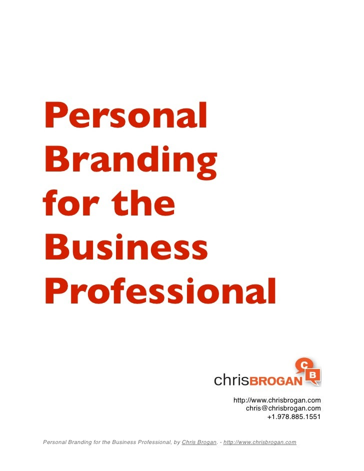 Personal Branding for the Business Professional                                                                        htt...