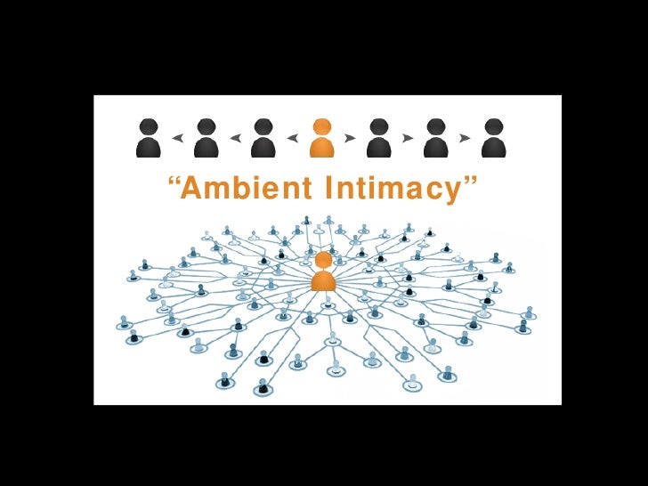 "<ul><li>"" Ambient Intimacy"" </li></ul>"