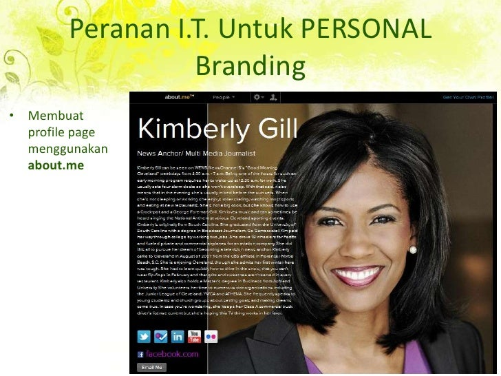 Peranan I.T. Untuk PERSONAL Branding<br />Membuat profile page menggunakanabout.me<br />