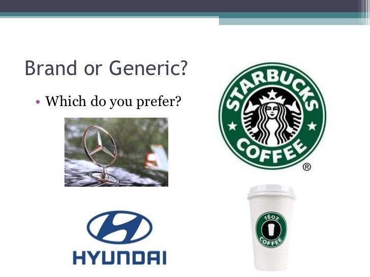 Brand or Generic? <ul><li>Which do you prefer? </li></ul>