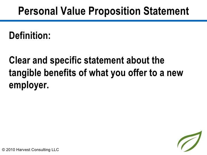 Personal brand statement definition
