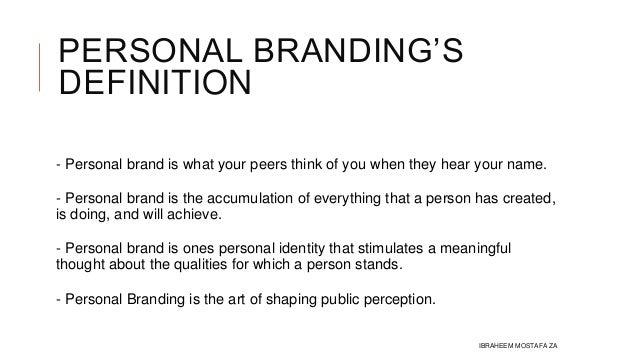 Personal Branding - IBMSTAFA
