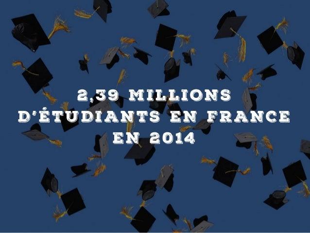 2,39 MILLIONS D'ÉTUDIANTS EN FR ANCE EN 2014