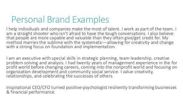 Personal Branding Basics